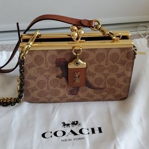 coach double frame bag